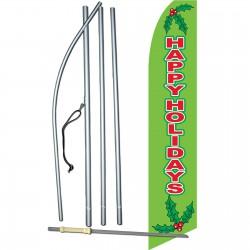 Happy Holidays Mistletoe Swooper Flag Bundle