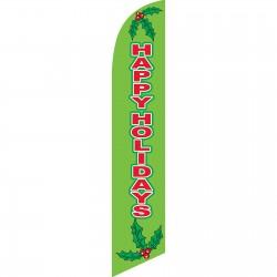 Happy Holidays Mistletoe Windless Swooper Flag