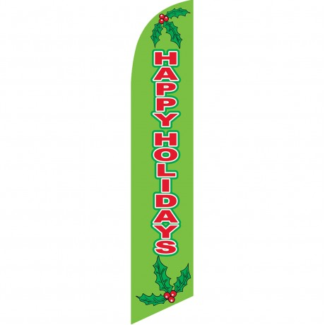 Happy Holidays Mistletoe Windless Swooper Flag