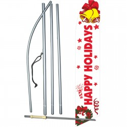 Happy Holidays Bells Swooper Flag Bundle