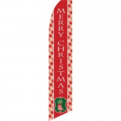 Merry Christmas Stocking Swooper Flag