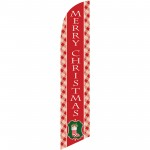 Merry Christmas Stocking Windless Swooper Flag