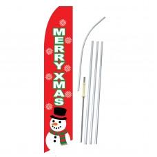 Merry Xmas Red Swooper Flag Bundle