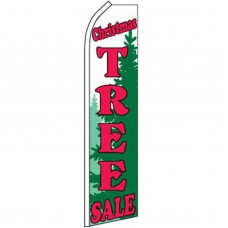Christmas Tree Sale Green Swooper Flag