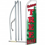 Christmas Tree Sale Green Swooper Flag Bundle