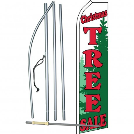 Christmas Tree Sale Green Swooper Flag Bundle