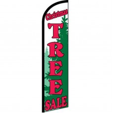 Christmas Tree Sale Green Windless Swooper Flag