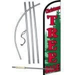 Christmas Tree Sale Green Windless Swooper Flag Bundle
