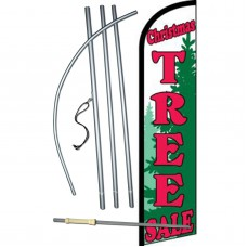Christmas Tree Sale Green Windless Swooper Flag Bundle