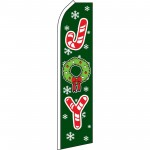 Joy Green Christmas Swooper Flag