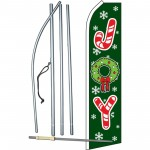 Joy Green Christmas Swooper Flag Bundle