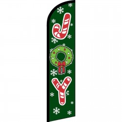 Joy Green Christmas Windless Swooper Flag