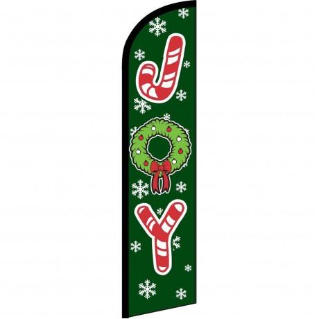 Joy Green Christmas Windless Swooper Flag