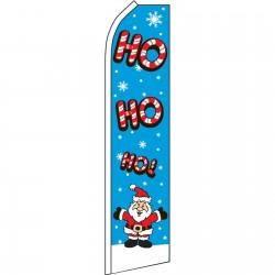 Ho Ho Ho Santa Christmas Swooper Flag