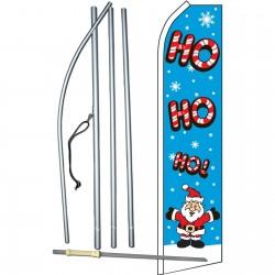 Ho Ho Ho Santa Christmas Swooper Flag Bundle