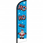 Ho Ho Ho Santa Christmas Windless Swooper Flag