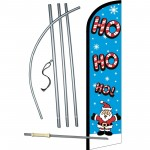 Ho Ho Ho Santa Christmas Windless Swooper Flag Bundle