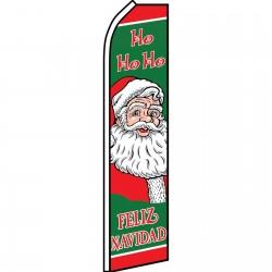 Feliz Navidad Ho Ho Ho Swooper Flag