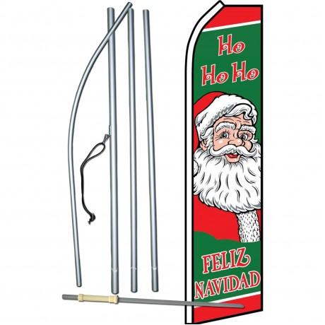Feliz Navidad Ho Ho Ho Swooper Flag Bundle