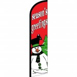 Seasons Greetings Snowman Windless Swooper Flag