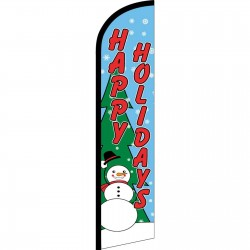Happy Holidays Snowman Windless Swooper Flag