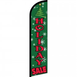Holiday Sale Green Windless Swooper Flag