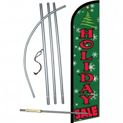 Holiday Sale Green Windless Swooper Flag Bundle