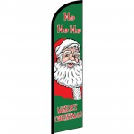 Merry Christmas Ho Ho Ho Windless Swooper Flag