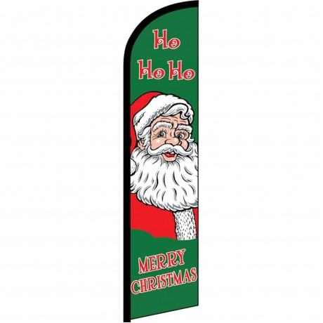 Merry Christmas Ho Ho Ho Windless Swooper Flag