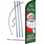 Merry Christmas Ho Ho Ho Windless Swooper Flag Bundle