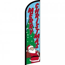 Merry Christmas Santa Windless Swooper Flag