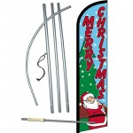 Merry Christmas Santa Windless Swooper Flag Bundle