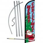Merry Christmas Santa Windless Swooper Flag Bundle