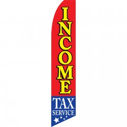 Income Tax Service Stars Below Swooper Flag