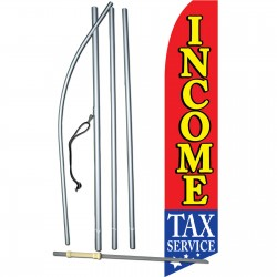 Income Tax Service Stars Below Swooper Flag Bundle