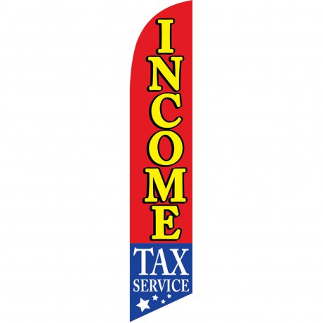 Income Tax Service Stars Below Windless Swooper Flag