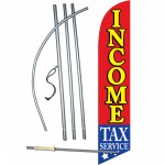 Income Tax Service Stars Below Windless Swooper Flag Bundle
