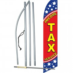 Income Tax Service Stars Swooper Flag Bundle