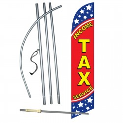 Income Tax Service Stars Windless Swooper Flag Bundle