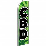 CBD Green Swooper Flag
