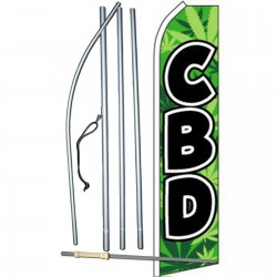 CBD Green Swooper Flag Bundle
