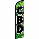 CBD Green Windless Swooper Flag