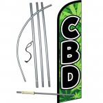 CBD Green Windless Swooper Flag Bundle