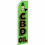 CBD Oil Green Swooper Flag