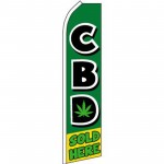 CBD Sold Here Green Swooper Flag