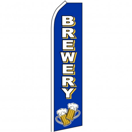 Brewery Blue Swooper Flag