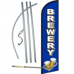 Brewery Blue Windless Swooper Flag Bundle