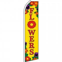 Flowers Yellow Swooper Flag