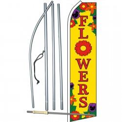 Flowers Yellow Swooper Flag Bundle