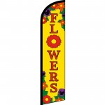 Flowers Yellow Windless Swooper Flag